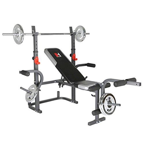 Hammer Hantelbank Bermuda XT mit Gewichten 45 kg, 3995
