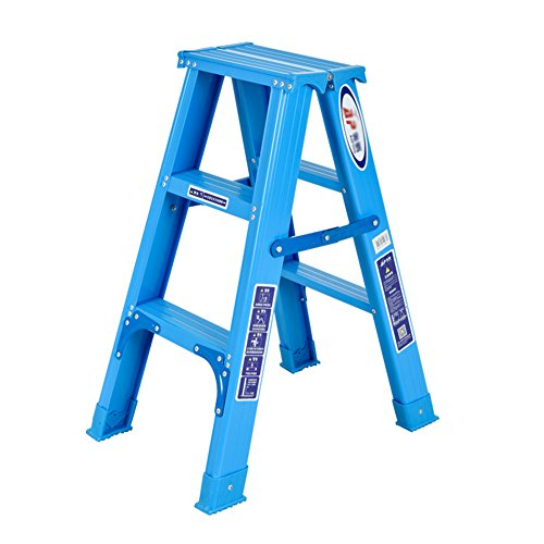 XING ZI Step stool X-L-H Fischgrätenleiter 3 Stufen Klappleiter Haushalts Aluminium Leiter Schritt Für Familie, Werkstatt, Garage - Garage Shop Hocker