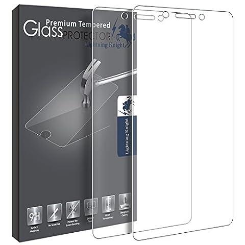 Protection écran Huawei Honor 6C, LK [2 Pièces] Verre Trempé [Garantie de Remplacement à Durée de Vie] Screen Protector
