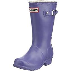 Hunters W23500 - Zapatos de caucho para niños, color morado, talla 24