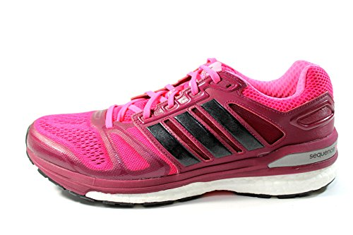 Adidas Supernova Sequence Boost 7 Womens Running Shoe 8 Gras rose-noir pink