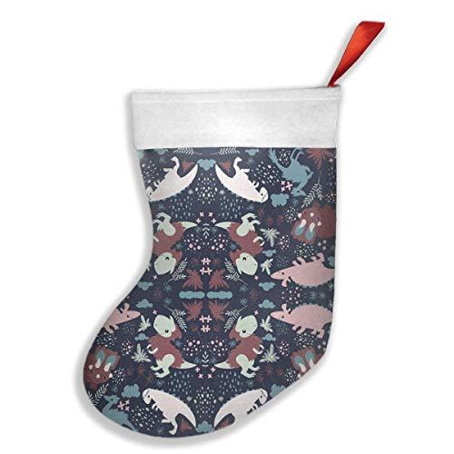 Cute animal dinosaurs dino cartoon calze della befana, calza per regali, christmas eve da appendere, a forma di albero, decorazioni per la casa
