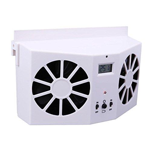 Preisvergleich Produktbild prettygood7 Solarbetriebene Auto-Innenraum-Luftlüfter,  Kühlventilator,  Belüftungssystem