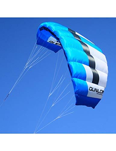 ZSYF Drachen Kite 2 M 2 Blau Outdoor Sport Lenkdrachen Dual Line Parachute Kite 40D Ripstop Nylon Für Kitesurfen Kiteboarding
