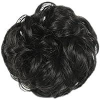 Babysbreath Señoras sintética Drawstring ondulado rizado bollos clip-in Hair Bun ramas de la cinta