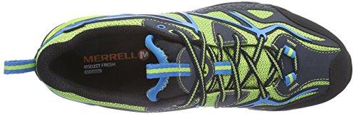 Merrell CAPRA SPORT GTX Herren Trekking & Wanderhalbschuhe Mehrfarbig (BLACK/LIME GREEN)