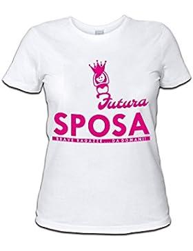 Altra Marca T-Shirt Donna Maglietta per Addii al Nubilato Personalizzata Futura Sposa Corona