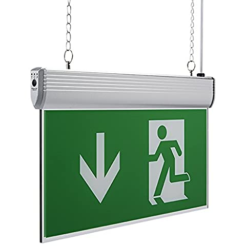 Biard 3.1W LED Green Double-Sided Hanging Emergency Exit Sign Light