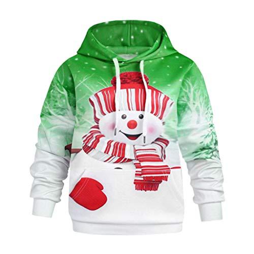 Damen Männer Kinder Weihnachten Schneemann Druck Pullover Langarmshirt Xmas  Top Sweatshirt Lässiger Hoodie Jumper Pulli Kapuzenpullover Bluse T-Shirt 4df9377412