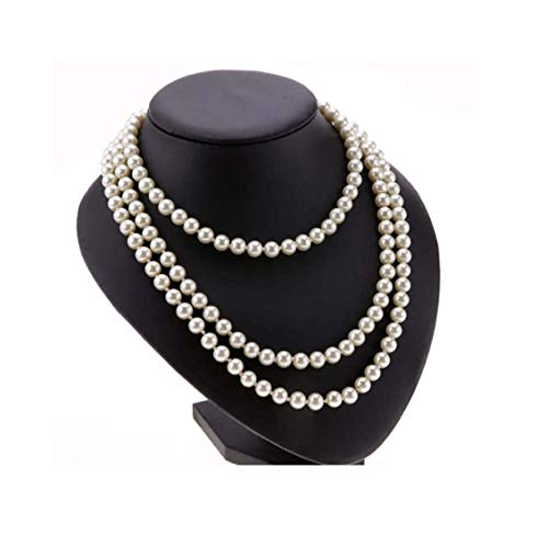 Ardisle - Collana lunga di perle finte da 150 cm