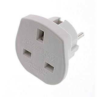 Accmart UK to EU Travel Plug Adaptors(White)
