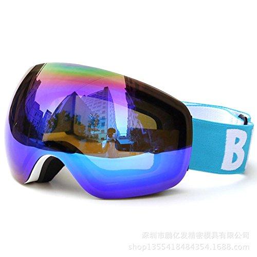 JING Outdoor-Sportarten Ski Gläser Doppelschicht Objektiv Winddicht Brille Klettern Ski Sonnenbrille für Mann und Frauen, White