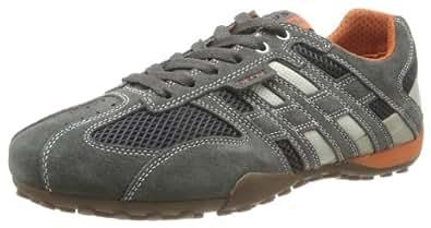 Geox U SNAKE ART.M U1107M02214C1300, Herren Sneaker, Grau (DK GREY/OFF WHITE C1300), EU 40