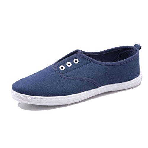 Jumex Damen Low Top Turnschuhe Sommer Sneaker Textil Blau