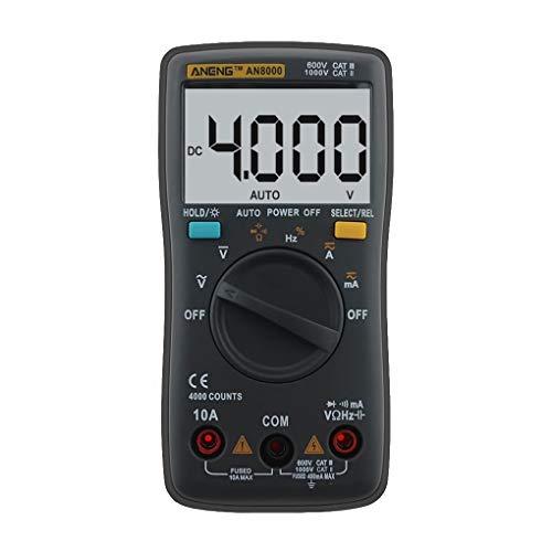 Aneng AN8000 Digital-Multimeter 4000 Counts Hintergrundbeleuchtung AC/DC-Transformation Ohm-Amperemeter-Widerstand Kapazit?t Tester Meter Regard
