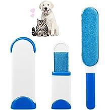 Mago Fur Wizard Pet Fur & Epilatore di pelliccia Spazzola pelo per gatto e cane dégrafe riutilizzabile per animali da compagnia con base auto-pulente (Bianco)