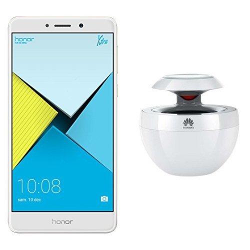 Honor 6x - Smartphone libre de 5.5' (lector de huellas, 4 GB RAM, 64 GB ROM, EMUI 4.1 compatible con Android M, Full HD 1080p, Kirin 655 octa core, cámara 12 MP + 2 MP, frontal 8 MP) plata