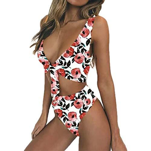 Morran Damen Bikini Set Push Up Bademode Verstellbarer Halter Bandage Bikini Zweiteilige Badeanzug Bandage Bikinihose