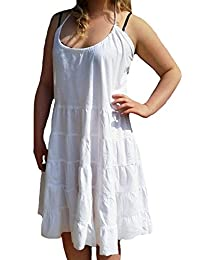 TopsandDresses Ladies White Sun Dress - Beach Holidays in UK Sizes 14-18