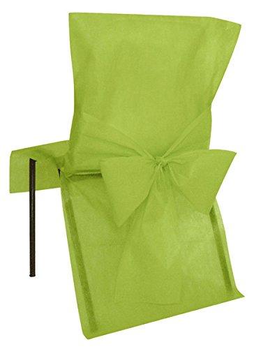 KULTFAKTOR GmbH Hochzeitsdekoration Stuhl-Hussen 10 Stück grün 50x95cm Einheitsgröße (Ein Stück Hussen)