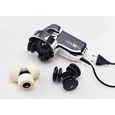 Masajeador para masaje deportivo, dolor muscular Masster Plus Cromo Serie limitada 3 rotores
