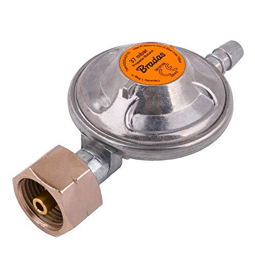 BFG Propane, regolatore di Gas butano a Bassa Pressione, 37 mbar, 1,5 kg/h, con valvola di Emergenza, Barbecue, Campeggio, roulotte, Idraulico