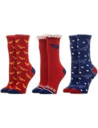 DC Comics Wonder Woman 3 Pack Crew Socks