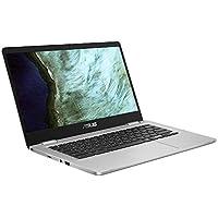 ASUS Chromebook C423NA (90NX01Y1-M02360) 35,5 cm (14 Zoll, Full HD, IPS-Level, NanoEdge, matt) Notebook (Intel Celeron N3350, Intel HD-Graphics 500, 4GB RAM, 64GB eMMC, Chrome OS) Silver