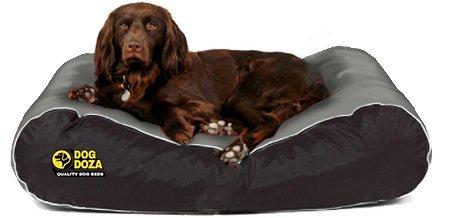 Dog Doza Wasserdichtes Hundebett, aktiver Stil, langlebig, groß, grau und schwarz -