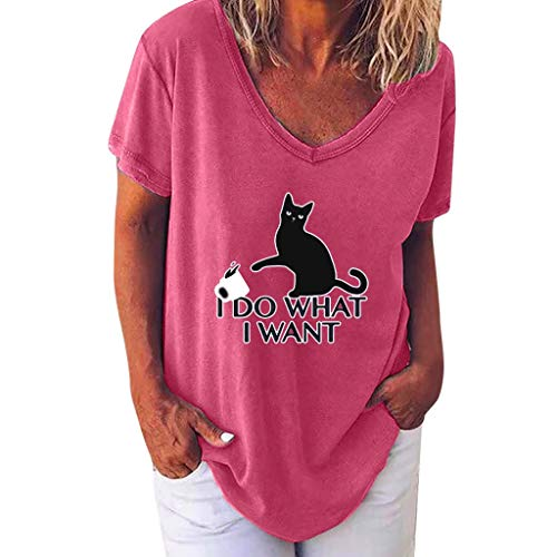 Soupliebe Camisetas Mujer Casual T-Shirt Blusa Aire