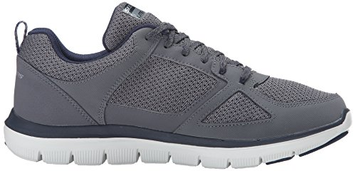 Skechers Herren Flex Advantage 2.0-Golden Point Sneaker Charcoal/Blau