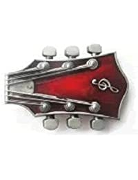 Diseño de cabeza de la Guitar rojo hebilla de cinturón