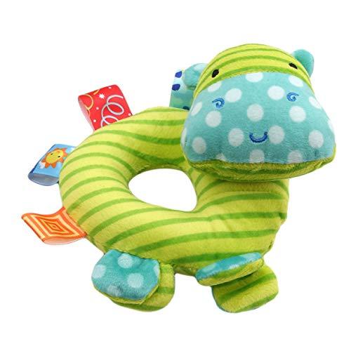 y gefüllt Cartoon Hand Rassel greifen Plüschtier Infant Handbell Geschenke Nilpferd ()