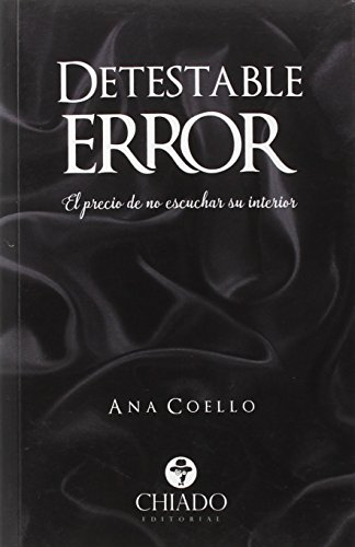 Portada del libro Detestable Error