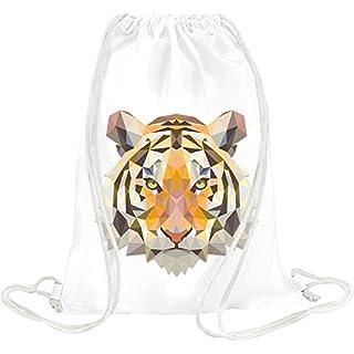Triangle Tiger Head Drawstring bag