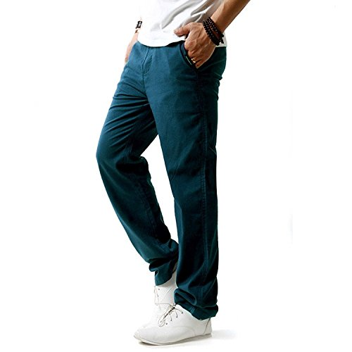Minetom pantaloni da uomo, pantaloni di lino, sportivi casual, gioventù e popolare ( blu it 44 ( vita 86-90 cm ) )