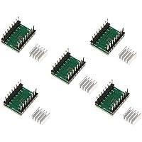 Sharplace 5 Piezas Stepper Motor Driver A4988 Con Disipadores de Calor Mendel Para Impresora 3D