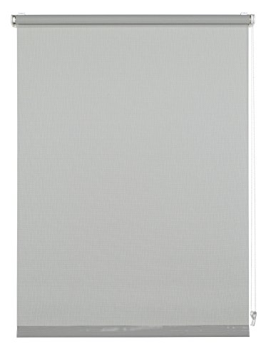GARDINIA Rollo zum Klemmen oder Kleben, Tageslicht-Rollo, Blickdicht, Alle Montage-Teile inklusive, EASYFIX Rollo Magic Screen, Grau, 100 x 150 cm (BxH)