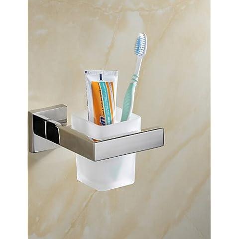 Accessori da bagno qmm,0.5 Porta spazzolini , Moderno Lucidatura a specchio A muro - Porta Specchio Ottica