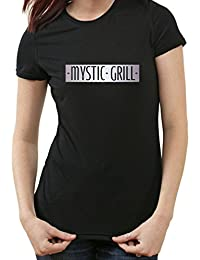 Mystic Grill The Vampire Diaries Fanshirt T-Shirt, feuilleton, Bar, XXL, Ladies schwarz