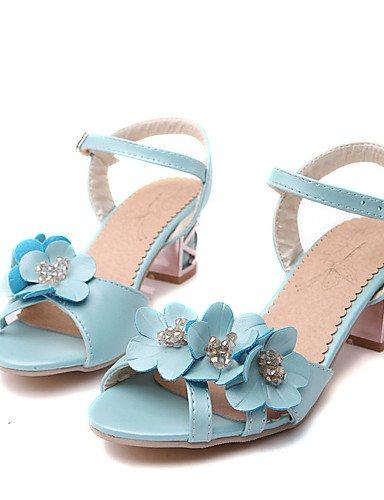 UWSZZ IL Sandali eleganti comfort Scarpe Donna-Sandali-Ufficio e lavoro / Formale / Serata e festa-Tacchi / Aperta-Quadrato-Finta pelle-Blu / Rosa / Bianco Blue