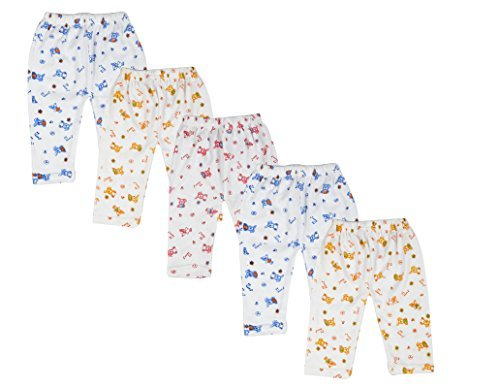 Kuchipoo Kids Pyjama Baby Pajama, Pack of 5 (Multi-Colored, 6-12 Months)