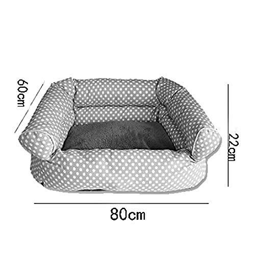 zhanan Pet Bed Cushion Vier Jahreszeiten universelles herausnehmbares und waschbares Katzenstreusofa aus Samt -