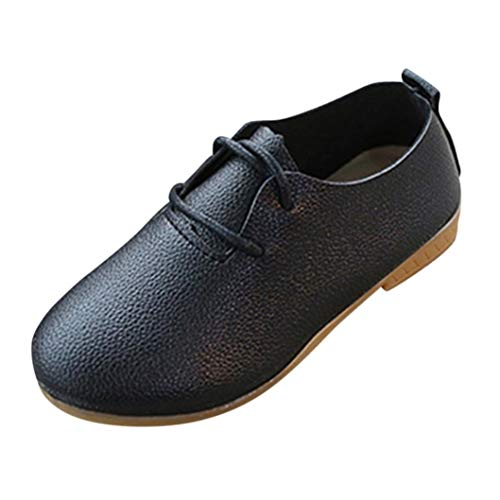 Voberry@ Voberry@ Baby-Girl's Oxford Leather School Uniform Lace up Dress Shoe/Flats/Sneaker(Toddler/)