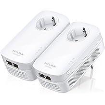 TP-Link TL-PA7020P KIT - Extensor de red por línea eléctrica (sin WiFi, 1000 Mbps, 2 puertos), color blanco
