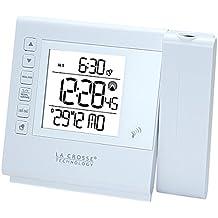 La Crosse Technology wt517-whi–Despertador de viaje con proyección, color blanco