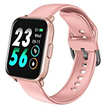 HolyHigh Smart Watch, Smart Watches Women 18 Sport Modes Bluetooth 5.0 Swimming Recorder 10 Days Battery Life IP68 Waterproof Heart Health/SpO2/Heart Rate/REM Sleep Monitor Compass Function