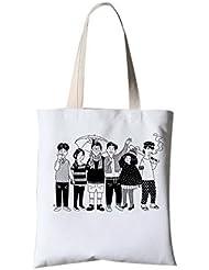 Sac de toile littéraire Sac de voyage Messenger Printing Portable Bag Un groupe de personnes