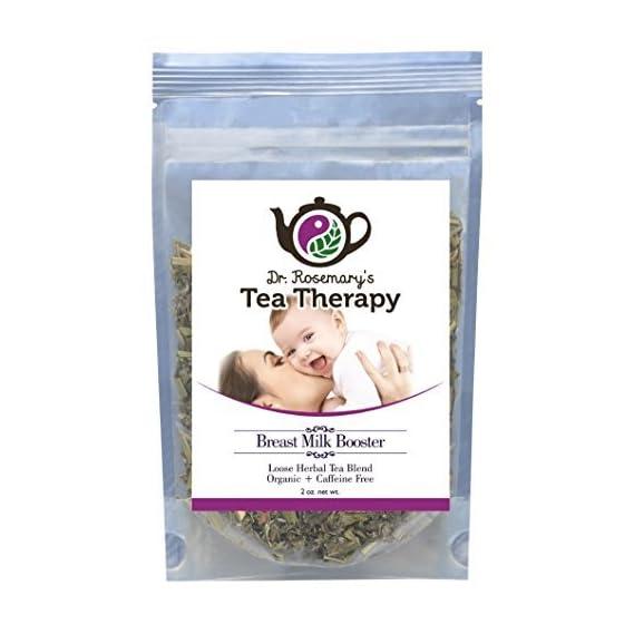 Organic Breastfeeding Lactation Aid Tea Therapy - Mother's Milk Tea - Caffeine Free - 40-50 cups - Loose Leaf Herbal Blend for Nursing Mothers w/ Fenugreek, Fennel & Anise - BONUS Tea Accessory