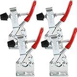 4 Stück Schnellspanner GH-201-B Kniehebelspanner Knebelklemme Vertikaler Handwerkzeuge Horizontal Toggle Clamp 90 kg 198lbs Fassungsvermögen